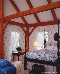 Laura Ashley timber frame bedroom
