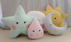 40 Ideas for diy decoracion habitacion cojines Baby Sewing Projects, Sewing For Kids, Sewing Crafts, Cute Pillows, Baby Pillows, Baby Sofa, Felt Crafts, Diy And Crafts, Bird Pillow