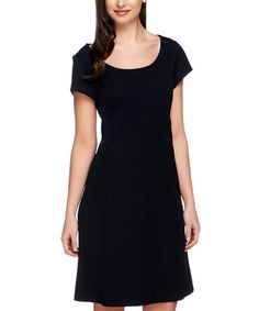 Loving this Black Fit & Flare Dress - Plus Too on #zulily! #zulilyfinds