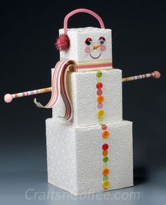 DIY a paper cube snowman