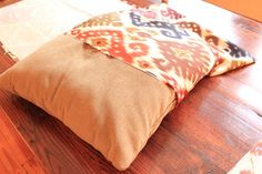 No sew pillow covers using shower curtain