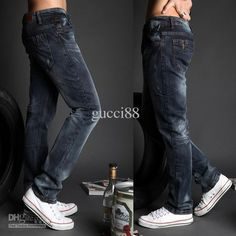 Straight Men's Cultivate One's Morality leisure small cotton male feet – teeteecee - fashion in style Elastic Jeans, Morality, Male Feet, Straight Guys, Jeans Pants, Cotton, Style, Fashion, Flare Leg Jeans