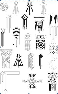 Dacian symbols on houses from Romania Textile Pattern Design, Geometric Pattern Design, Textile Patterns, Ancient Symbols, Ancient Art, Hand Symbols, Pierre Frey, Clay Design, Hamsa Hand