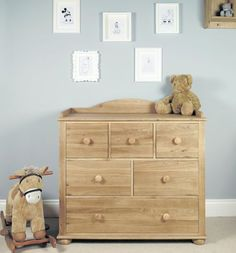 Amelie Oak Changer Chest of Drawers #storage #oak #wood #furniture #bedroom #chestofdrawers #traditional #home #interior #decor