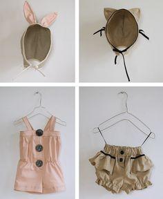 Bear & Bunny jumpsuits by Lieshchen Mueller