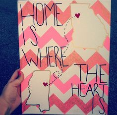 I absolutely LOVE this! I could make one for my roomie is coming to Nebraska all the way from Pennsylvania!
