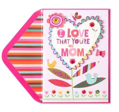 Front view of mothers day card