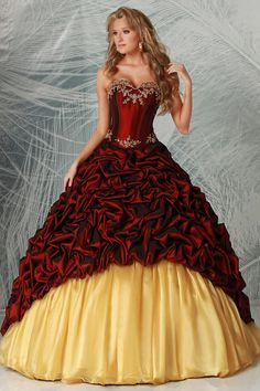 Cheap dresses Buy Quality gown directly from China dresses for wide hips Suppliers: 2016 New Arrival Burgundy With Jacket Ruffles Beaded Quinceanera Dresses Victorian Masquerade Ball Gowns Vestidos de 15 Anos Quince Dresses, 15 Dresses, Ball Dresses, Bridal Dresses, Fashion Dresses, Flower Girl Dresses, Bridesmaid Dresses, Dress Prom, Party Dress