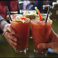 Refreshing Bloody MERRY garnished with TabbyCat's hand crafted Athena Spears (pickled asparagus) Zesty Dilly Beans, and Hot Rods (spicy carrot sticks. Pickled Asparagus, Dilly Beans, Spicy Carrots, Carrot Sticks, Moscow Mule Mugs, Hot Rods, Merry, Drinks, Tableware