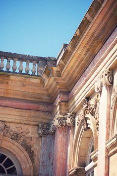 Architecture Classique, Baroque Architecture, Beautiful Architecture, Beautiful Buildings, Architecture Details, Trianon Versailles, Chateau Versailles, Palace Of Versailles, Jules Hardouin Mansart