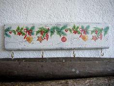 Christmas Stocking Hanger Stocking Holder Wood by ForesteDiOro