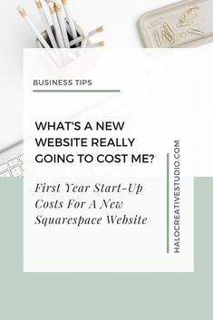 One of the first questions I get asked by my clients is 'What is a new website really going to cost me'? You want to get your finances straight and understand exactly what you will be spending. Let's break it down and find out what your first year (and beyond) costs will be for a new squarespace website.