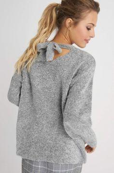 Sweter oversize z ozdobnym wiązaniem | ORSAY