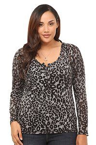 Twist Tees - Grey Leopard Burnout Henley at Torrid  http://www.rebategiant.com/store/389/torrid-com.html