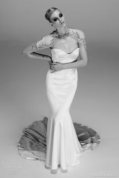 http://www.weddinginspirasi.com/2013/12/02/mariana-hardwick-2014-wedding-dresses-les-annees-folles-bridal-collection/ mariana hardwick bridal natasha #wedding dress femme fatale bolero #weddingdress #weddings