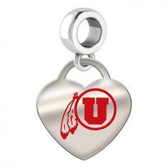 NCAA Utah Utes Adult Men Cufflinks Silver