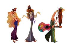 Hippies Character Design on Behance