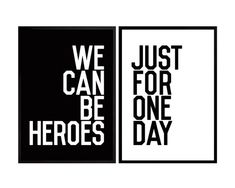 David Bowie Poster Heroes-Song-Zitat Poster von PeanutoakPrint