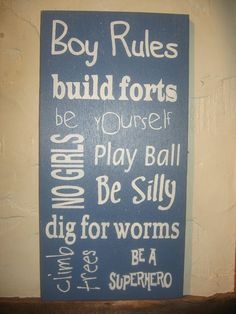 Boy RulesBoy Cavetypgraphysubway signword art by frommyheartprims, $24.99