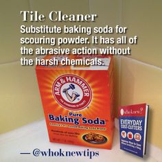 Don't spend money on scouring powder! Use baking soda!