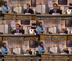 Michael as the receptionist.