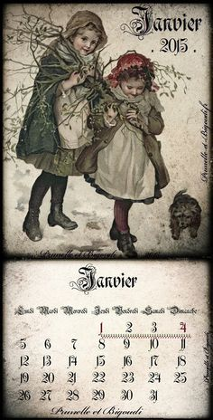 Calendrier... Janvier 2015 http://prunelle-et-bigoudi.fr/calendrier-2015-a-imprimer