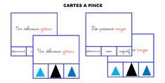 cartes à pince _ analyse du groupe nominal Montessori, Bar Chart, Grammar, Mathematical Analysis, Cards, Bar Graphs