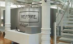 Welcome Graphic, Robert F. Wagner Graduate School, Pentagram #wayfinding #design #signage