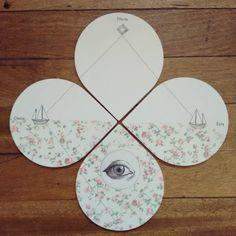 """""""El triángulo de las Bermudas"""" set de 4  posa vasos pieza única #Himallineishon #coasters #homedecore #illustration #boat #flower #eye #handpainted"""