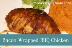 Slow Cooker Bacon Wrapped Apple BBQ Chicken Recipe — Dishmaps