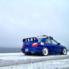 Dope Subaru with WRC spoiler