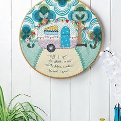 Campervan Embroidered Hoop