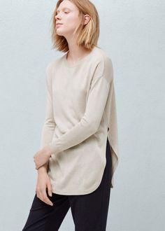 Fine-knit oversize sweater   MANGO