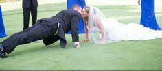 Paul & Kelly 07-04-2014 Push ups in a wedding dress :)