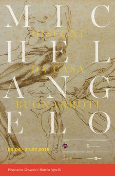 Michelangelo. Disegni da Casa Buonarroti. Pinacoteca Agnelli exhibition 2019 poster. #MichelangeloaTorino
