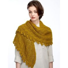 Slice of Nice Shawl – Free Crochet Pattern. Light and lacy shawl crocheted in Bernat Satin. free pattern More Patterns Like This!