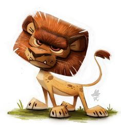 Daily Paint 654. Lion by Cryptid-Creations ★ Find more at http://www.pinterest.com/competing/