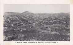 From Fred Johnson's Palace Drug Store Cripple Creek CO Colorado Vintage Postcard