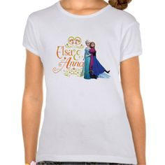 Elsa and Anna Standing Back to Back T Shirts