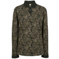 LS Black Paisley Print Polo | Pretty Green | Designer fashion from Liam Gallagher