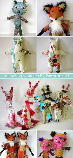 Animals with attitude! : Nameless Wonders by Karen Suzuki... by emma lamb, via Flickr