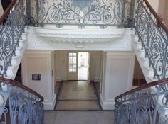 Valance Curtains, Stairs, Home Decor, Stairways, Stairway, Interior Design, Home Interiors, Staircases, Decoration Home