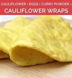 Three ingredient cauliflower wraps, plus more amazing three ingredient paleo recipes! #paleo #glutenfree