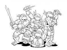 Simple Teenage Mutant Ninja Turtles Coloring Pages Printable 82 Free Teenage Mutant Ninja