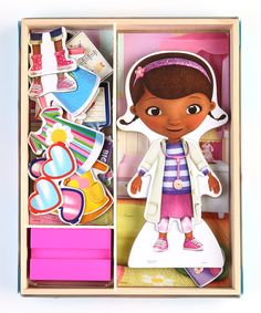 Take a look at this Doc McStuffins Wooden Doll Set by Disney on #zulily today!