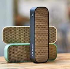 aGroove portable bluetooth speaker by Kreafunk. A wireless speaker to listen to your music everywhere. With an elegant and minimalist design. Audio Design, Speaker Design, Diy Speakers, Bluetooth Speakers, Portable Speakers, Portable Charger, Design Shop, Form Design, 3d Design