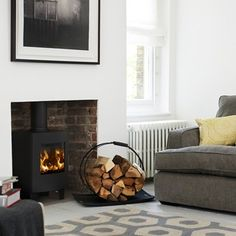 New and oh-so-stylish living room designs to inspire – Freestanding fireplace wood burning Wood Stove Decor, Wood Burner Fireplace, Wood Burning Fireplace Inserts, Morso Wood Stove, Morso Stoves, Log Burner Living Room, New Living Room, Living Room Decor, Kitchen Living
