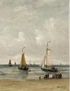 Hendrik Willem Mesdag (1831-1915) Vertrek van de vissersvloot.