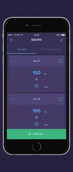 Aplicación UI animaciones entrenamiento diseños de interacción aplicación