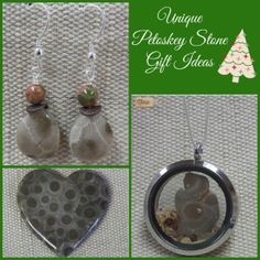 Unique Petoskey Stone Gift Ideas  #Michigan #GreatLakes #Petoskey